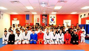taekwondo and judo students